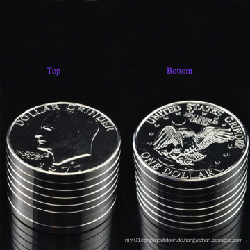 Space Metal Big USA Silber Dollar Coin Grinder
